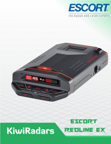 Escort Redline EX International LONG Range Radar Detector with Kiwi GPS